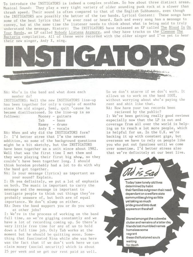 Instigators (No Answers #3) a