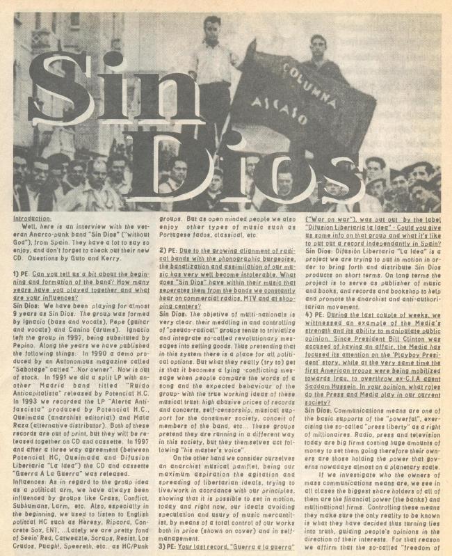 Sin Dios (P.E. #35) a