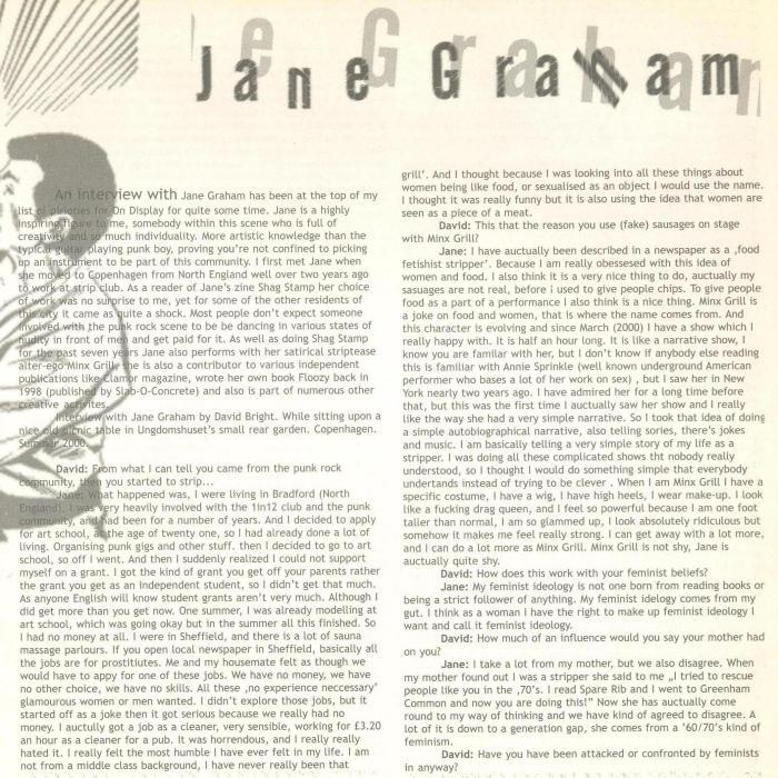 Jane Graham (On Display #3) a