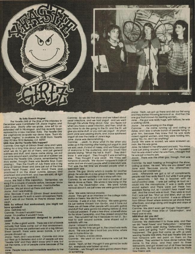 Yeastie Girlz (MRR #61, '88) a