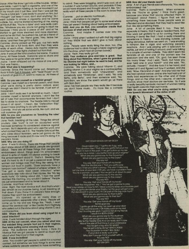 Yeastie Girlz (MRR #61, '88) b