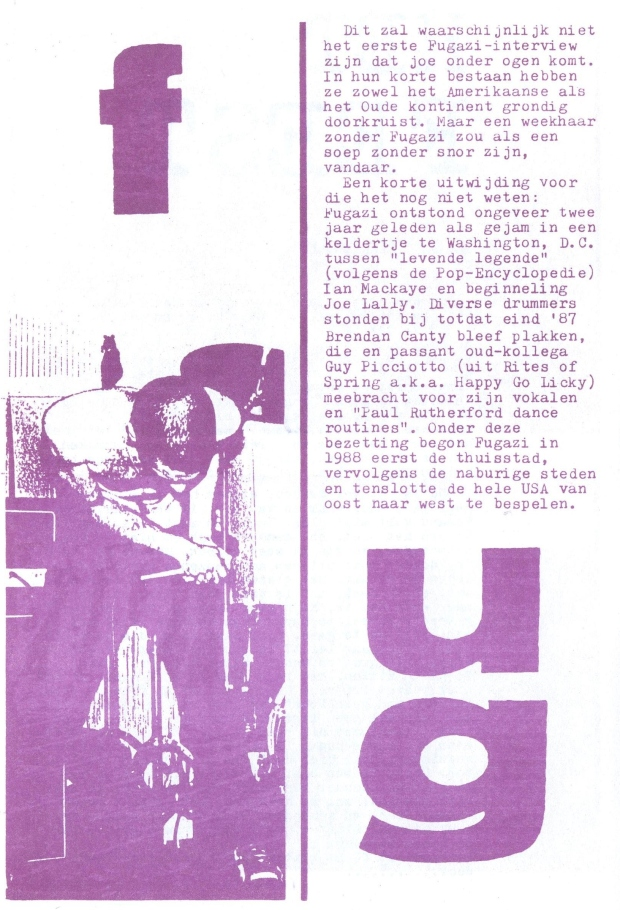 Fugazi (Weekhaar #1) a