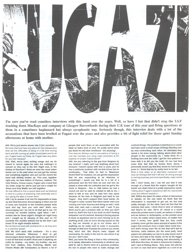 Fugazi (Incredible Shrinking Fanzine #5) a